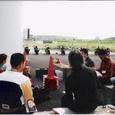 朝のミーティング風景